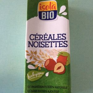 Lait végétal céréales noisette