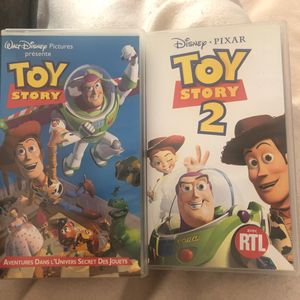 VHS toy story 1&2
