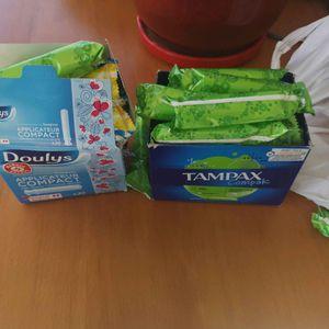 Lots de tampons hygieniques