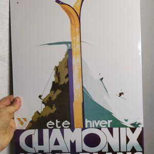 Plaque métal Chamonix