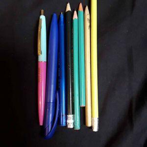 Lot stylos et crayons de papier