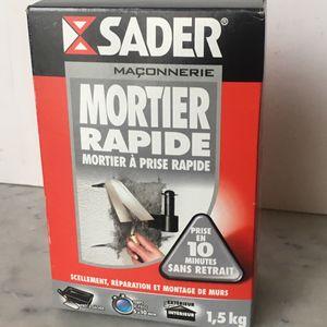 Mortier Rapide SADER 1,5kg - Neuf