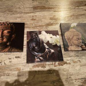 Lot de 3 cadres style zen