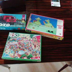 Ensemble jeux puzzle loto