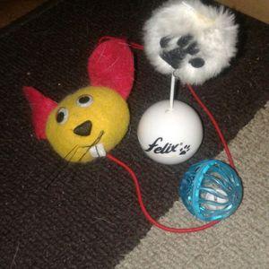 3 petits jouets pour chat