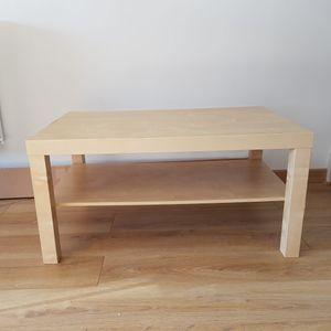 Table basse décor bois