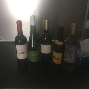 5 bouteille de vin