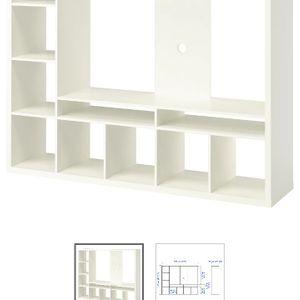 Ikea LAPPLAND TV meuble blanc