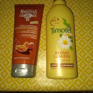 2 Après shampoings..  peu utilisés ..remplis au 3/4