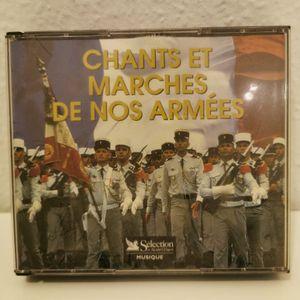"""""""Chants et Marche de nos Armées"""" coffret 5 CD"""