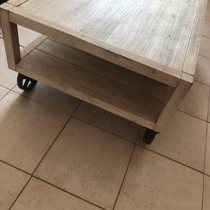 Table basse bois industriel