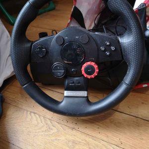 Volant jeux vidéo avec pédale