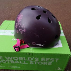 Casque rollier skate trottinette Oxelo fille taille S