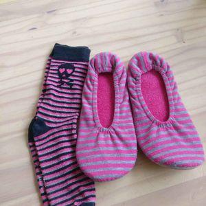 Chaussons 34-35 et chaussettes 31-35