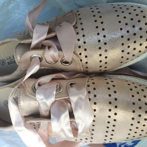 Chaussures ville rose Gold