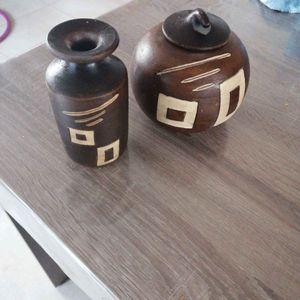 Vase et vide poche style africain
