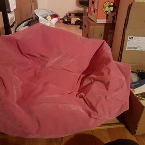 Pouf gonflage de couleur rose