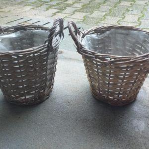 2 cache pot en osier