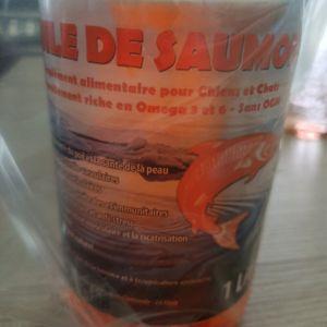 Huile de saumon pour chiens et chats