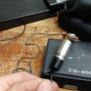 Microphone cravate Sony EM4005 Electret Condenser