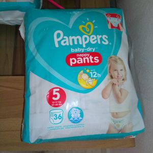 Couches Pampers pants taille 5
