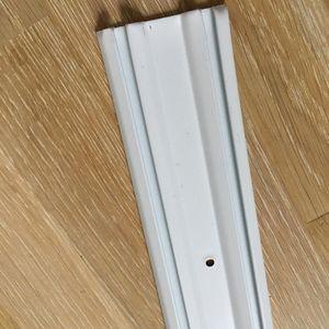Donne rails alu blancs 120cm