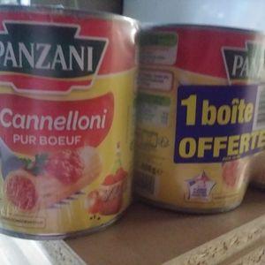 8 boites de cannelloni panzani