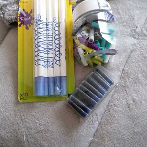 Effacer et cartouche bleu