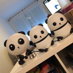 3 lampes pandas