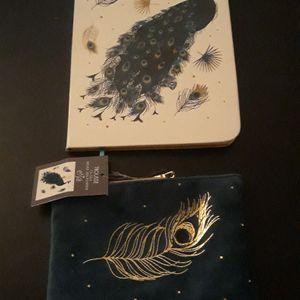 cahier et petite pochette (neuf)